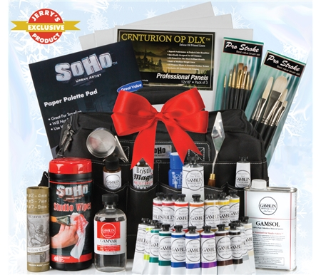 This ultimate professional oil painting set is available exclusively at Jerry\'s!