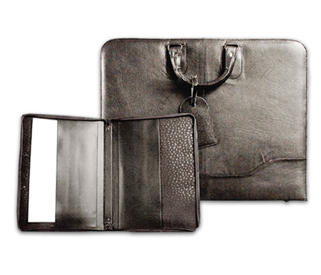 These sophisticated portfolios are handcrafted out of top grain natural leather.