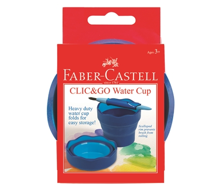 Collapsable water cup for plein air