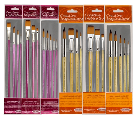Creative Inspirations Dura-Handle Brush Sets