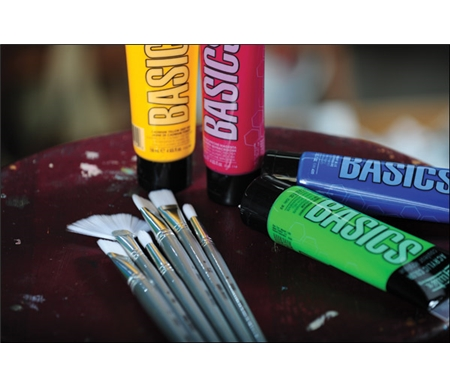 Basics Brushes are the perfect compliment to Basics Acrylics.