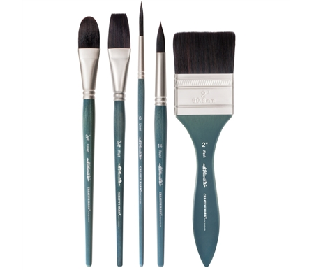 Mimik Synthetic Squirrel Hair Watercolor Brushes