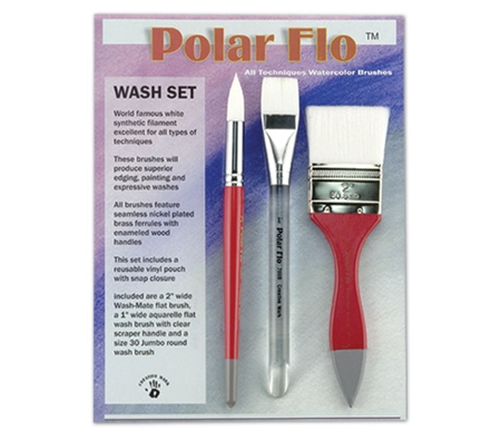 Polar-Flo Wash Brush Set of 3