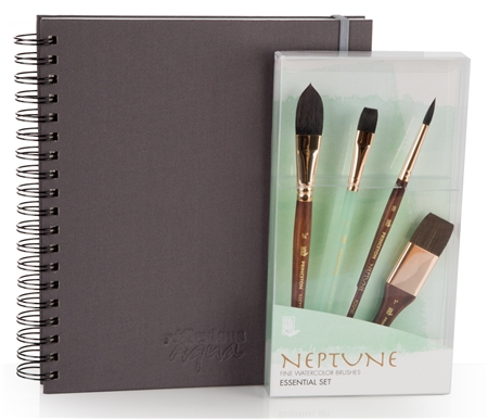 The perfect set of professional watercolor tools to quickly begin painting!