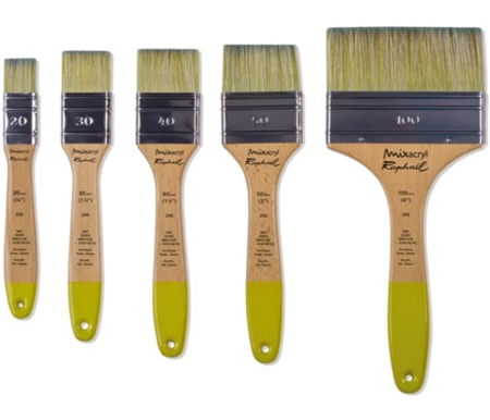 MixAcryl Oil and Acrylic Wide Flat Brushes