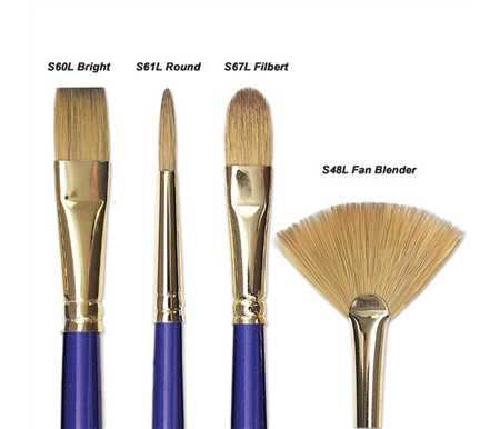 These brushes are made from a special blend of the finest Kolinsky red sable hair and synthetic filament.