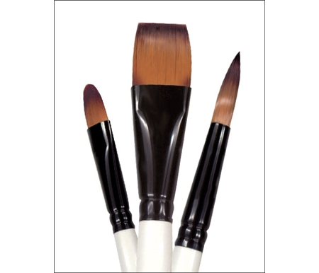 Simply Simmons Extra-Firm Synthetic Short Handle Brushes