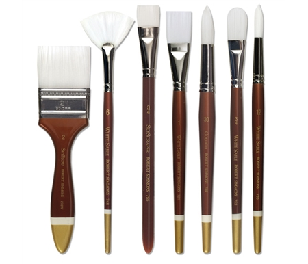 White Sable Watercolor Brushes