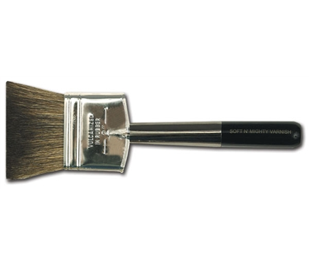 These are the best brushes for glazing and varnishing over large areas.