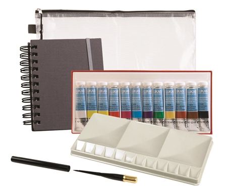 Silver Brush Black Velvet Voyager Watercolor Brush Travel Set