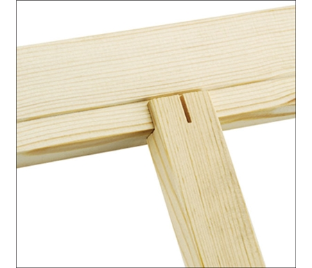 Cross braces fit in slots at back of stretcher bars and are easily fit with flat head screws.