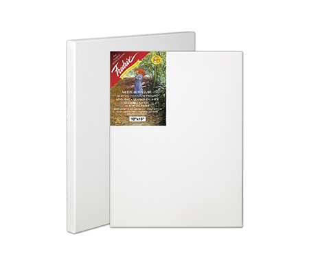 This Red Label canvas is acrylic titanium primed for use with oil or acrylics.
