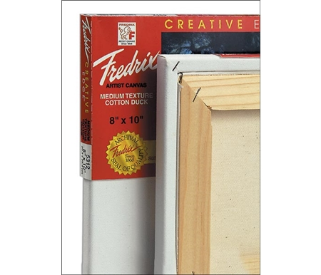 This canvas features a clean, staple free edge that allows you to paint on all four sides.