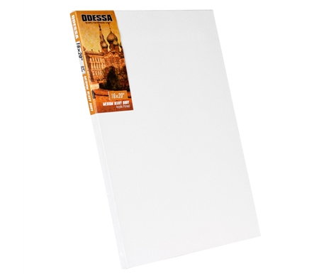 Acrylic primed surface is ideal for works in acrylics, oils, and alkyds.