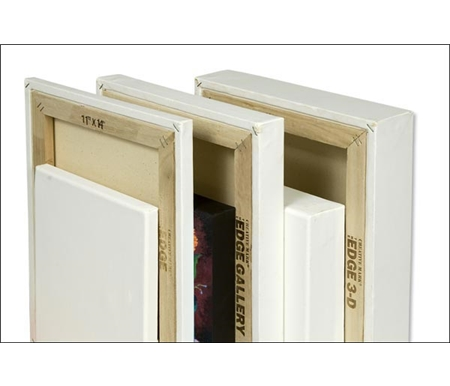 A special Tuck-N-Roll construction provides you with four clean paintable edges for frameless presentation of your art.