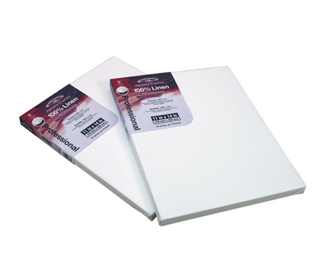 These linen canvases have a standard 13/16 deep frame.