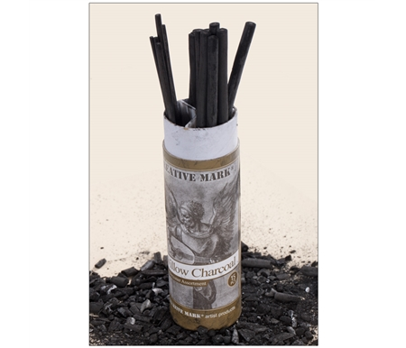 Soft, natural willow charcoal for sketching and drawing!