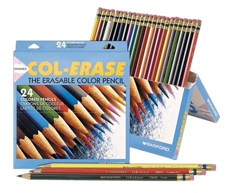 These erasable pencils are excellent for technical illustration.