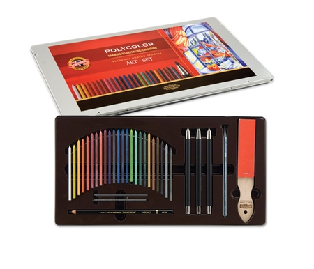 Koh-I-Noor Polycolor Dry Colored Pencil Art Set