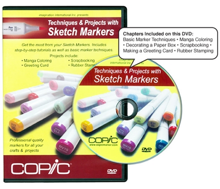 This DVD will help you learn techniques to ge tthe most out of your Copic Sketch markers.
