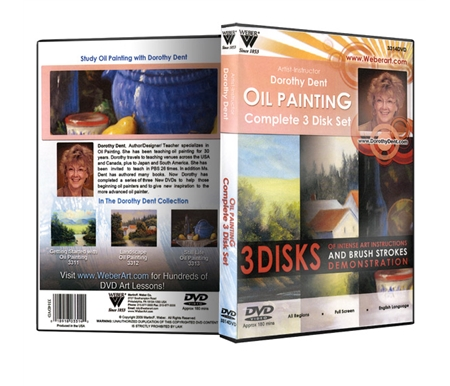These DVDs help beginning oil painters and give new inspiration to the more advanced oil painter