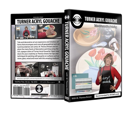 Turner Acryl Gouache: Tole and Decorative Painting DVD with M. Theresa Brown