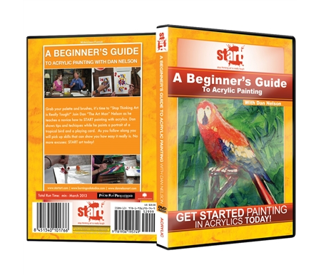 A Beginner\'s Guide To Acrylic Painting DVD With Dan Nelson
