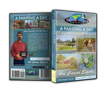 A Painting a Day: Small Paintings for Big Results DVD with Stephen Filarsky