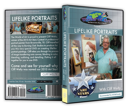 Lifelike Portraits DVD with Cliff Welty