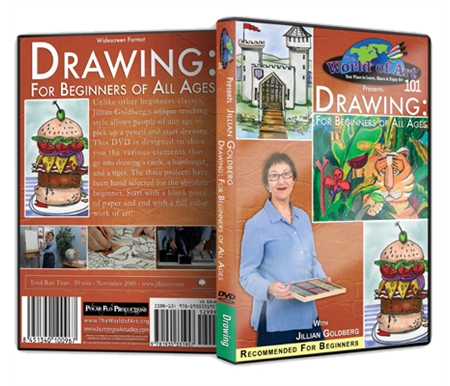 Drawing: For Beginners of All Ages DVD with Jillian Goldberg