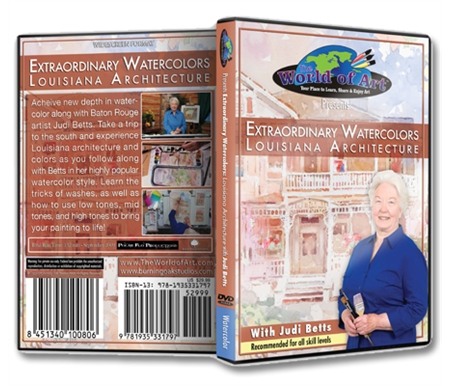 Extraordinary Watercolors: Louisiana Architecture DVD with Judi Betts