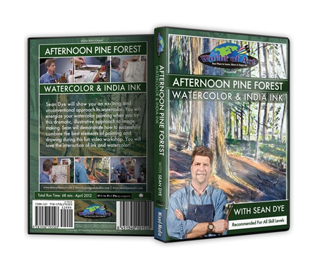 Afternoon Pine Forest: Watercolor & india Ink DVD with Sean Dye