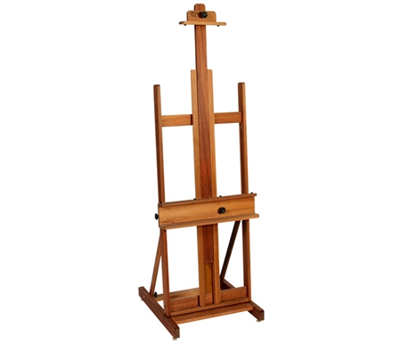 With its H-frame construction and quad base, this easel offers great stability for working seated or standing.