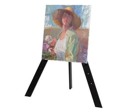 Ideal display easel for displaying artwork in your studio, home or gallery