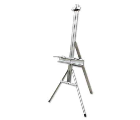 This aluminum easel sets up in minutes without any tools!