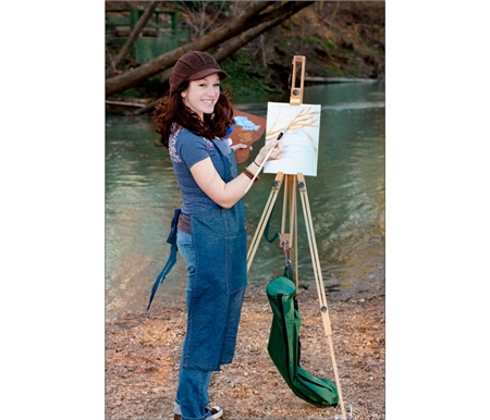 Ultra-lightweight wood easel ideal for travel and plein air painting!