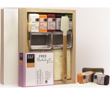 The Limited Edition R&F Handmade Encaustic Paint Set with a FREE Catalyst tool!