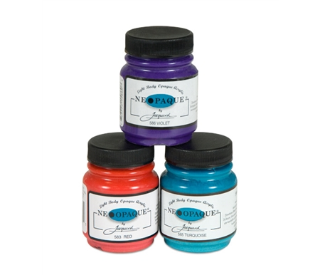 Neopaque paints are designed to cover dark backgrounds with light application.