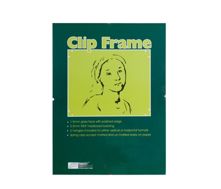 Ambiance Gallery Clip Frames are the perfect solution when you want a sleek frame design with no frills to detract from your artwork.