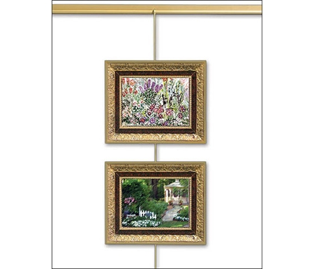 OOK® Gallery Rods and monkey hooks allow you to hang pictures in seconds!