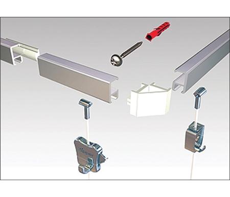 stas minirail hanging system. Black Bedroom Furniture Sets. Home Design Ideas