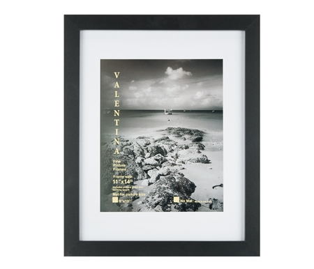 Black Satin Frame with Glass and Mat