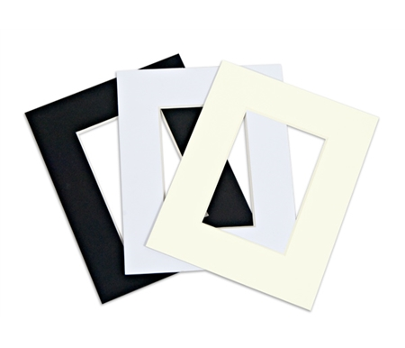 Viewpoint Mats have a clean white 45° bevel and are outstanding either in 4 ply or 8 ply thickness.