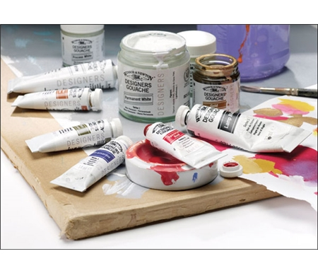 Winsor & Newton Designers Gouache are brilliant, smooth and extremely opaque water-based colors.