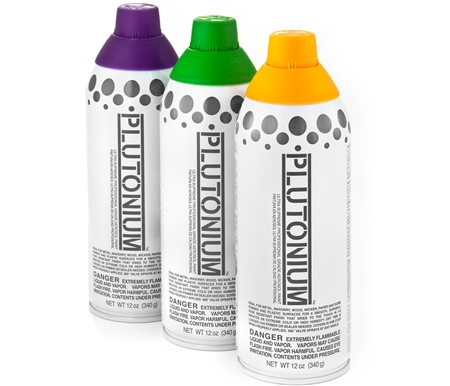 Plutonium is ideal for metal, masonry, wood, wicker, paper, and some rubber and plastic surfaces!