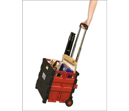 Easliy Carry Your Supplies - Red Austin Roller Crate