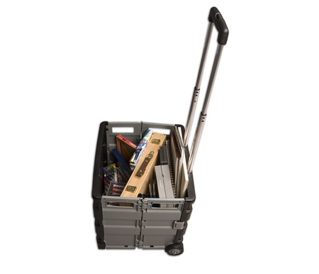 Convenient, collapsible, rolling crates for hauling tons of art supplies and more!