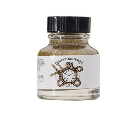 Winsor & Newton Drawing Ink- Gold