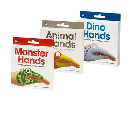 Kids of all ages will enjoy endless hours of creativity with these temporary tattoo finger puppets!