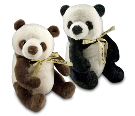 Golden Panda Plush Stuffed Bears
